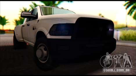 Dodge Ram 3500 Heavy Duty para GTA San Andreas vista direita