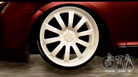 Bentley Continental VIP Stance Style para GTA San Andreas esquerda vista