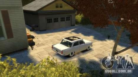 Moskvich 412 para GTA 4 vista inferior