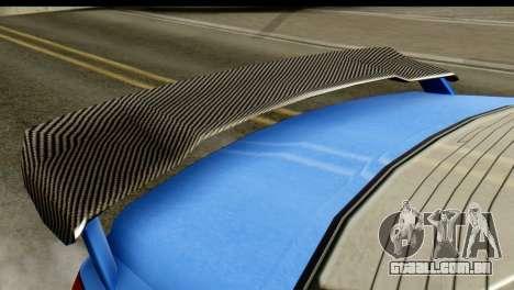 GTA 5 Benefactor Schwartzer IVF para GTA San Andreas traseira esquerda vista