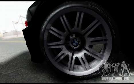 BMW M3 E46 Police para GTA San Andreas traseira esquerda vista