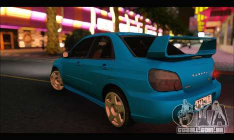 Subaru Impreza WRX STI Tuning para GTA San Andreas vista direita