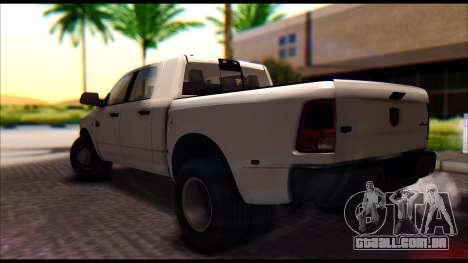 Dodge Ram 3500 Heavy Duty para GTA San Andreas esquerda vista