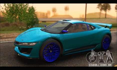 Dinka Jester Racecar (GTA V) (SA Mobile) para GTA San Andreas esquerda vista
