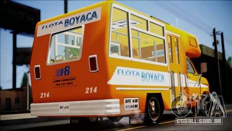 Ford E-150 Bus para GTA San Andreas esquerda vista