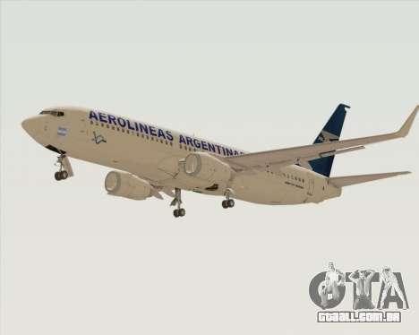 Boeing 737-800 Aerolineas Argentinas para GTA San Andreas vista traseira