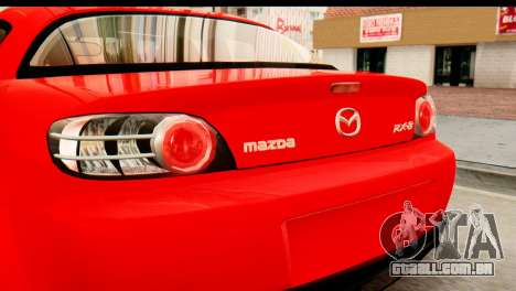 Mazda RX-8 2005 para GTA San Andreas vista direita