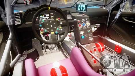 Ferrari 458 GT2 Stevenson Racing para GTA 4 vista interior