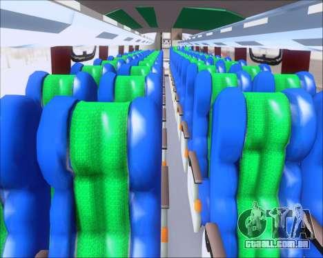 Busscar Vissta Buss LO Palmeiras para GTA San Andreas vista interior