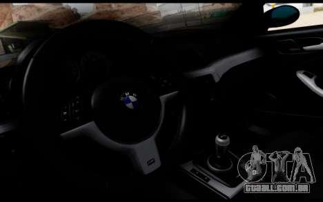 BMW M3 E46 Police para GTA San Andreas vista direita