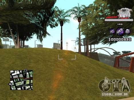 C-HUD by Sorel para GTA San Andreas quinto tela