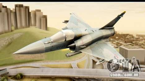 Dassault Mirage 2000-5 para GTA San Andreas vista traseira
