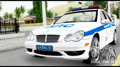 A Mercedes-Benz C32 AMG ДПС para GTA San Andreas