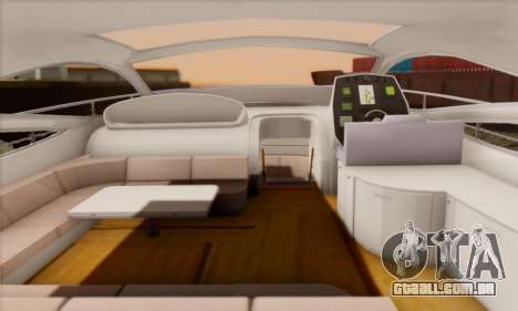 Speed Yacht para GTA San Andreas vista direita