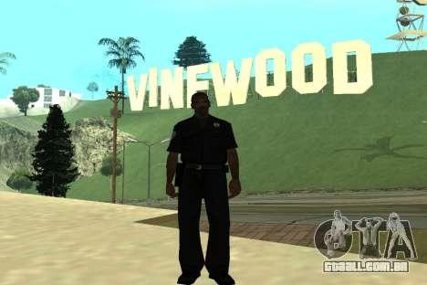 Black Police All para GTA San Andreas por diante tela