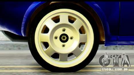 Dacia 1300 B 89 WRC para GTA San Andreas traseira esquerda vista