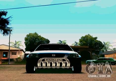 Honda CR-V para GTA San Andreas esquerda vista