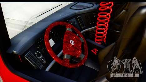 Volvo FH16 Hal Kamyonu para GTA San Andreas vista traseira