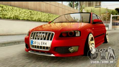 Audi S3 2007 Camber Edit para GTA San Andreas