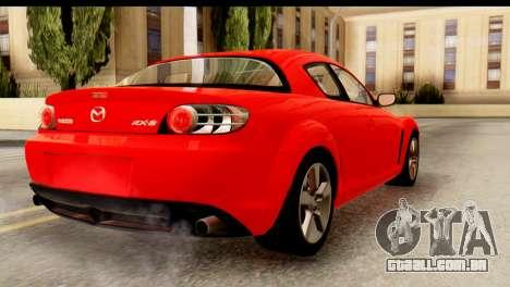 Mazda RX-8 2005 para GTA San Andreas esquerda vista
