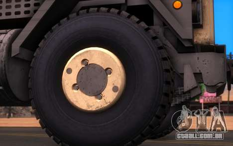 Oshkosh M1070 HET Tank Transporter para GTA San Andreas traseira esquerda vista