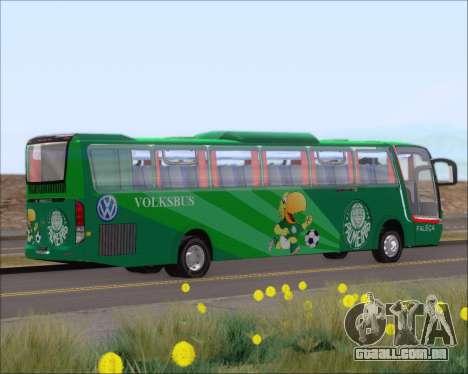 Busscar Vissta Buss LO Palmeiras para GTA San Andreas vista traseira
