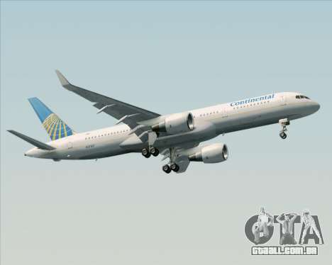 Boeing 757-200 Continental Airlines para GTA San Andreas vista interior