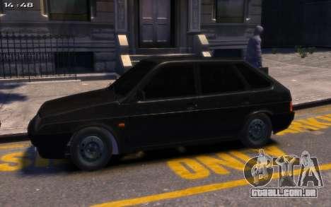 Lada 2109 para GTA 4 traseira esquerda vista