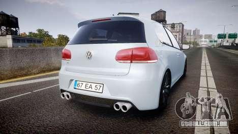 Volkswagen Golf R para GTA 4 traseira esquerda vista