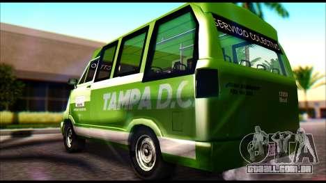Toyota Microbus para GTA San Andreas esquerda vista
