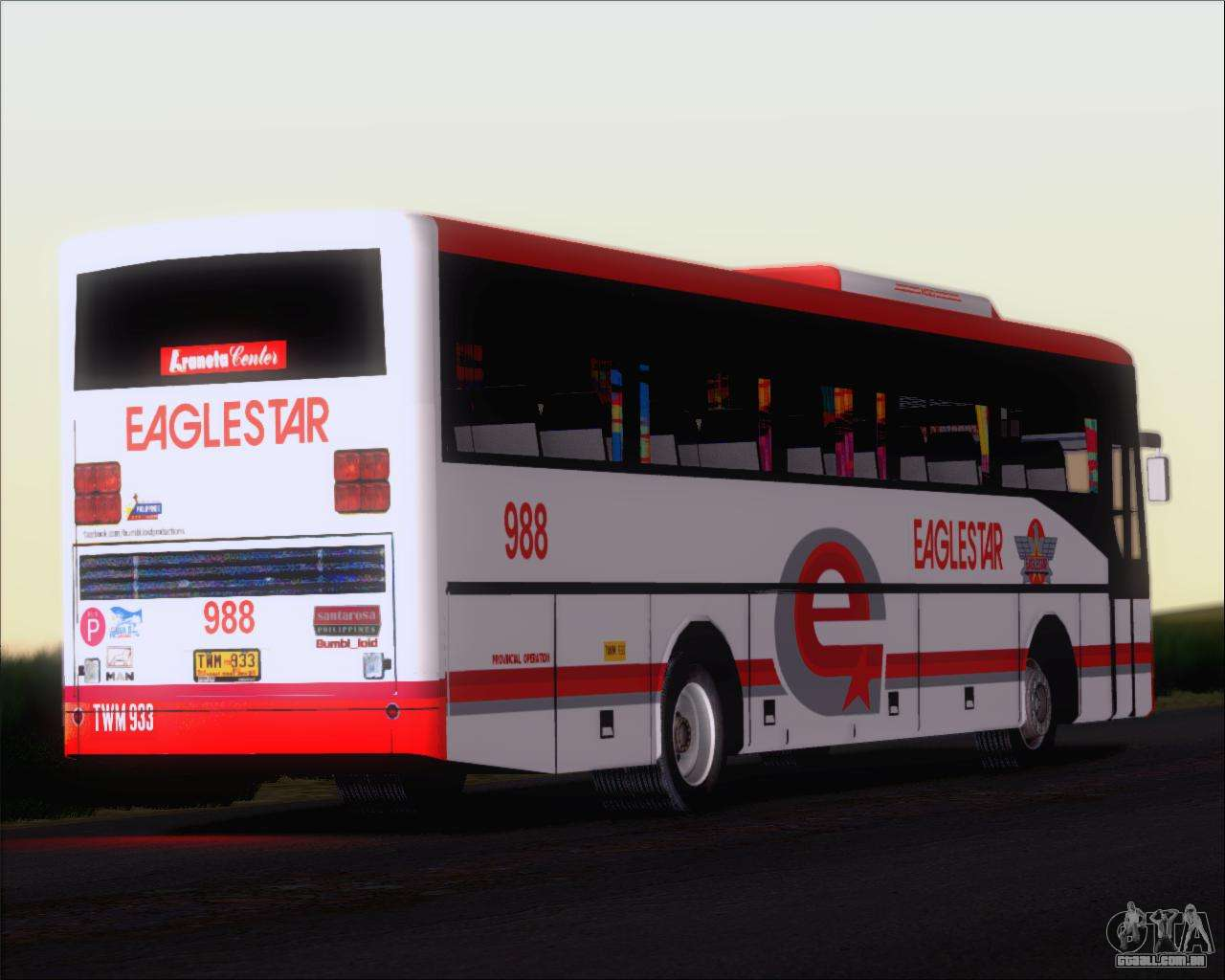 Elegant Nissan Diesel UD Santarosa EAGLESTAR 998 Para GTA San Andreas Vista Inferior