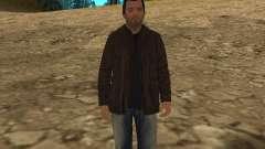 Michael de GTA 5, com um terno novo