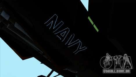 F-14 Black Storm para GTA San Andreas traseira esquerda vista
