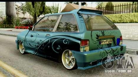 Ford Festiva Tuning para GTA San Andreas esquerda vista