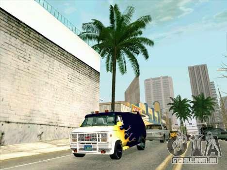 GMC The A-Team Van para GTA San Andreas vista traseira