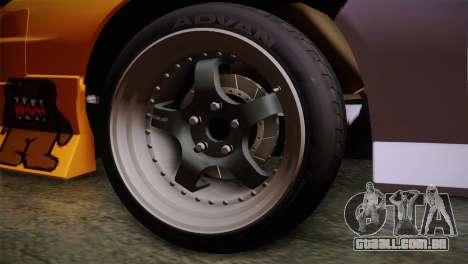 Nissan 240SX para GTA San Andreas traseira esquerda vista