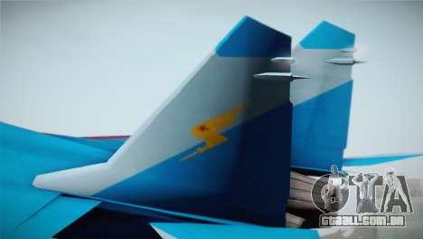 MIG-29 Russian Falcon para GTA San Andreas traseira esquerda vista