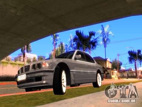 BMW 740i BL para GTA San Andreas esquerda vista