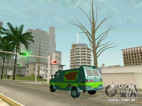 GMC The A-Team Van para GTA San Andreas vista inferior