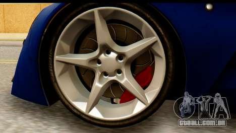 Marussia B2 para GTA San Andreas traseira esquerda vista