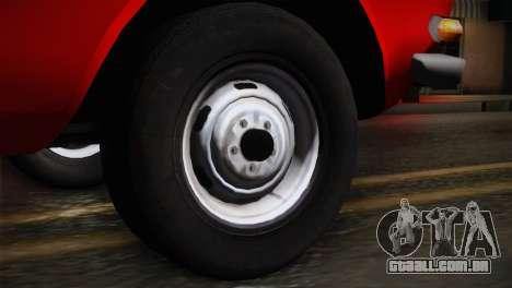 АЗЛК 412 URSS Autosport para GTA San Andreas traseira esquerda vista