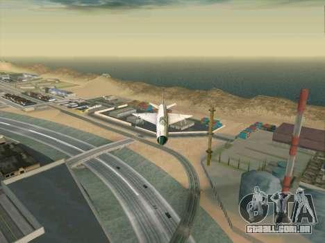 MiG 21 para GTA San Andreas traseira esquerda vista