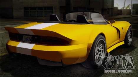 GTA 5 Invetero Coquette SA Mobile para GTA San Andreas traseira esquerda vista