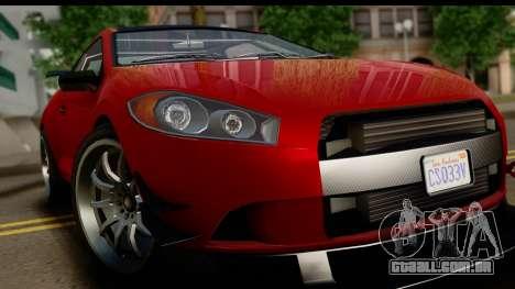 GTA 5 Maibatsu Penumbra IVF para GTA San Andreas vista traseira