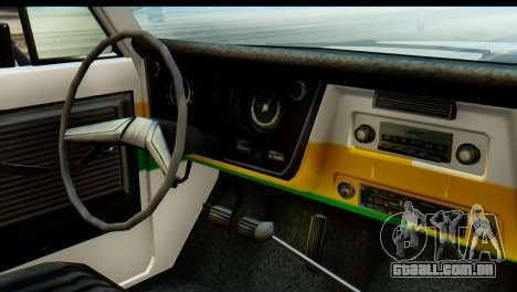 Chevrolet C10 Patrulla para GTA San Andreas vista traseira