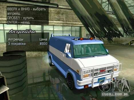 GMC The A-Team Van para vista lateral GTA San Andreas