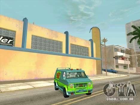 GMC The A-Team Van para GTA San Andreas vista direita