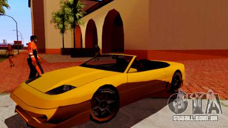 DLC garagem do GTA online de transporte novo para GTA San Andreas por diante tela