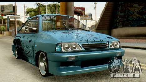 Ford Festiva Tuning para GTA San Andreas vista traseira
