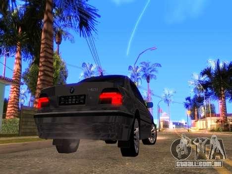 BMW 740i BL para GTA San Andreas vista direita